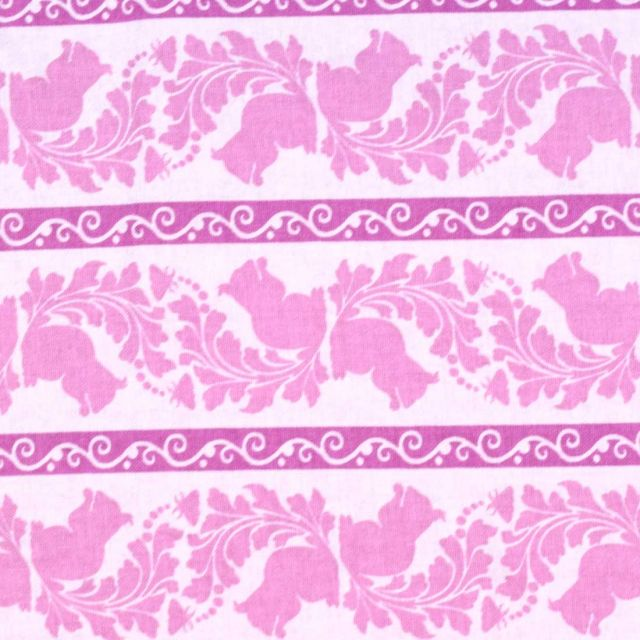 Blend - Garden of Delights - Squirrel Stripe - Green - Brooklyn Fabric  Company