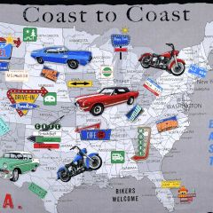 Blank Coast to Coast USA Panel - Gray main
