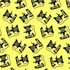 Blank Retro Charm Telephones - Yellow main