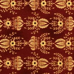 Henry Glass Farmstead Harvest Flocked Wallpaper - Ruby main