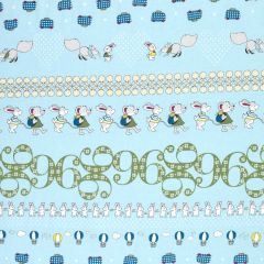Stof Count on Me Border Print - Light Blue main