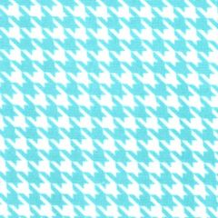 Maywood Studio Lil Sprout Too Flannel Houndstooth - White/Teal main