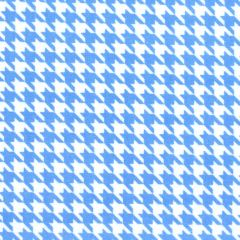 Maywood Studio Lil One Too Flannel Houndstooth - White/Blue main