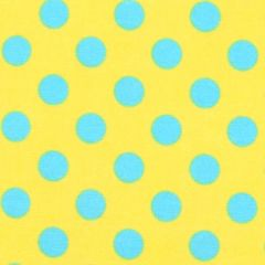 Maywood Studio Lil One Too Flannel Dots - Yellow/Teal main