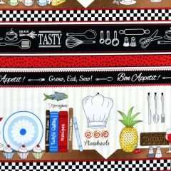 Timeless Treasures Row by Row 2019 Row by Row Cooking Stripe main