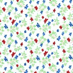 Midwest Textiles Vintage Miniatures Butterfly - Red/Navy main