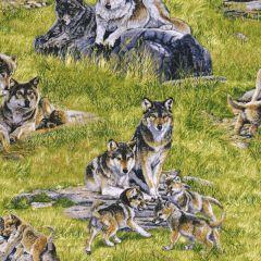 Elizabeth's Studio North American Wildlife Wolf Family - Green main