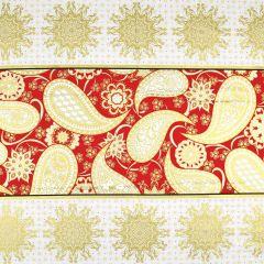 Benartex Jubilee Holiday Jubilee Embroidery Panel - Red main