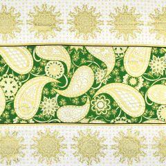 Benartex Jubilee Holiday Jubilee Embroidery Panel - Green main