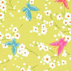Michael Miller Project Dovetail Butterfly Blossoms - Grass main