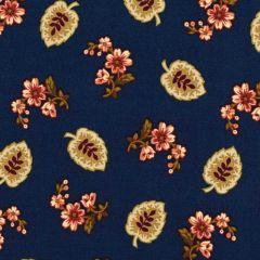Henry Glass Buttermilk Blossoms Leaf & Spray - Navy main