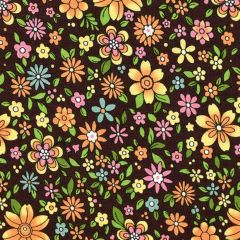 Oasis Boho Chic Floral - Brown