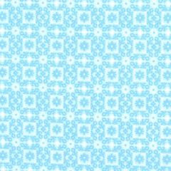 Oasis Enchanted Tonal Flowers in Square - Turquoise main