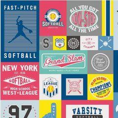 Riley Blake Varsity Softball Panel 56 x 64 main