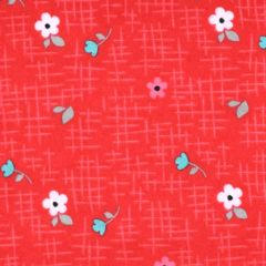 Riley Blake Panda Love Flannel Floral - Red main
