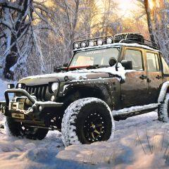 Riley Blake Jeep In The Wild Jeep Panel - Black