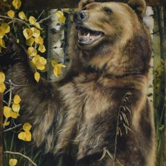 Penny Rose Wild and Playful Bear Panel main