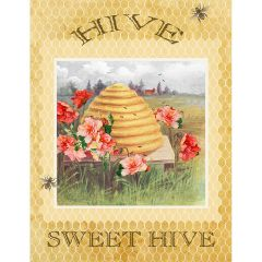 Studioe Bee Sweet Bee Hive Panel - Yellow main