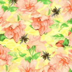 Studioe Bee Sweet Watercolor Roses and Bees - Yellow