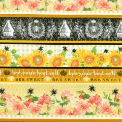 Studioe Bee Sweet Border Stripe - Honey main
