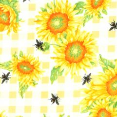 Studioe Bee Sweet Sunflowers on Check - Yellow main