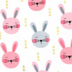 Michael Miller Glitter Critters Ruminating Rabbits - Peach