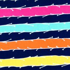 Michael Miller Nature Journal Sprite Stripe - Navy main
