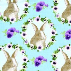 Blank Hoppy Easter Bunny Faces - Aqua main