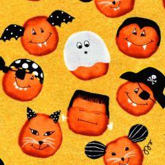 Studioe Cheekyville Small Pumpkin Faces - Gold main