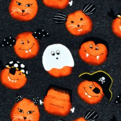Studioe Cheekyville Small Pumpkin Faces - Dark Gray main