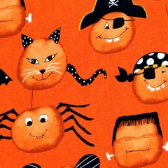 Studioe Cheekyville Large Pumpkin Faces - Orange main