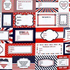 "Studioe Red, White & Starry Blue 24"" Label Panel - Navy/Red main"