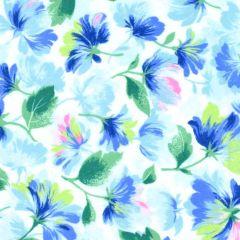 Maywood Studio Rejuvenation Feathered Flowers - Blue main
