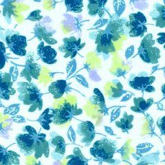 Maywood Studio Rejuvenation Little Flowers - Teal