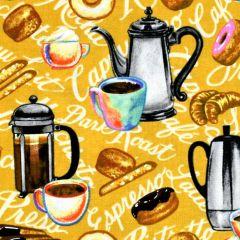 Blank Brewed Awakenings Coffee Motifs - Tan