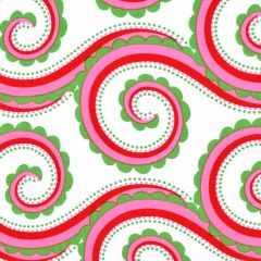 Michael Miller Large Curly Swirl - Santa