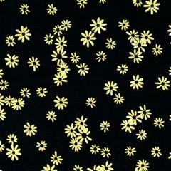 Kanvas Metallic Mixers  Metallic Flowers - Black/Gold main