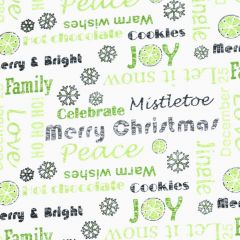 Contempo Hearty the Snowman Sweet Wishes - Green main