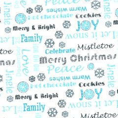 Contempo Hearty the Snowman Sweet Wishes - Turquoise main