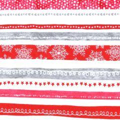 Contempo Hearty the Snowman Swirl Stripe - Red