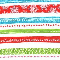 Contempo Hearty the Snowman Swirl Stripe - Multi main