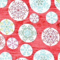 Contempo Hearty the Snowman Circle Flake - Red main
