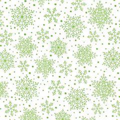 Contempo Hearty the Snowman Snowflakes - White/Green
