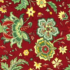 Clothworks Wintertide Large Floral - Red main