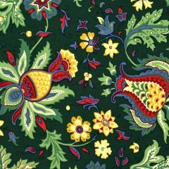 Clothworks Wintertide Large Floral - Forest main