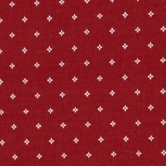 Clothworks Wintertide Geo Dot - Red