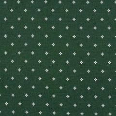 Clothworks Wintertide Geo Dot - Forest