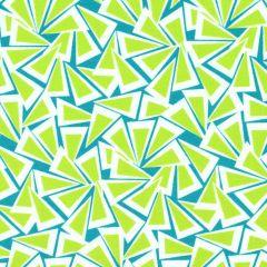 Contempo Fandangle Triangle Trinkets - Lime/Teal main