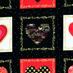 Kanvas Cherish Decorative Heart Boxes - Black