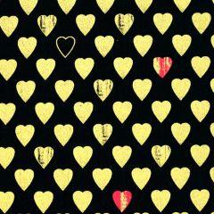 Kanvas Cherish Texture Hearts - Black